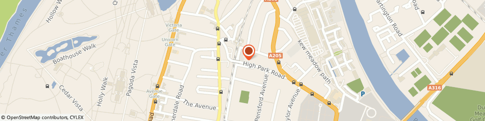 Route/map/directions to Aura Lingerie & Swimwear, TW9 4BH Richmond, 34 High Park Road