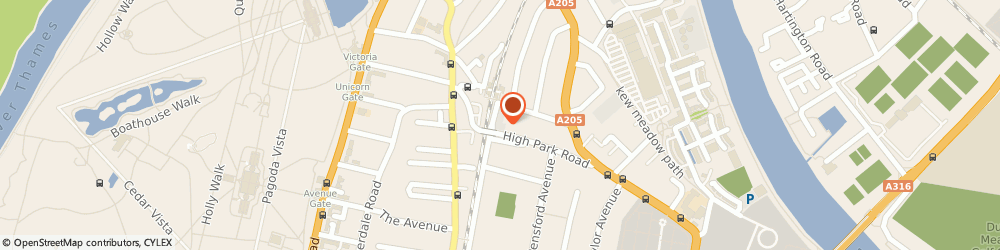 Route/map/directions to BEIJA LONDON LTD, TW9 4BH Richmond, 34 High Park Road