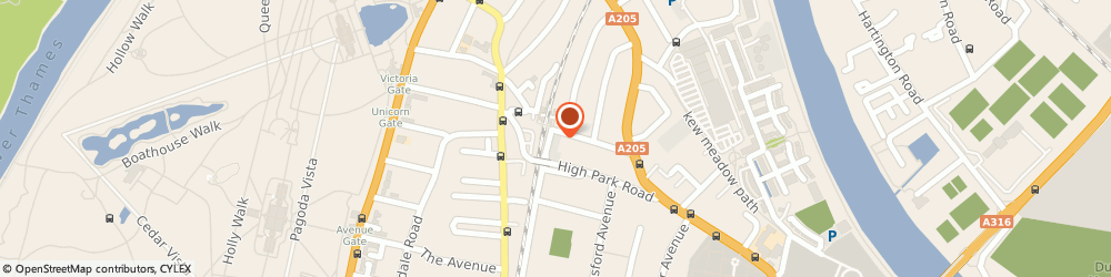 Route/map/directions to Robert Alexander Hair & Beauty, TW9 4HJ Richmond, 103-104 North Road