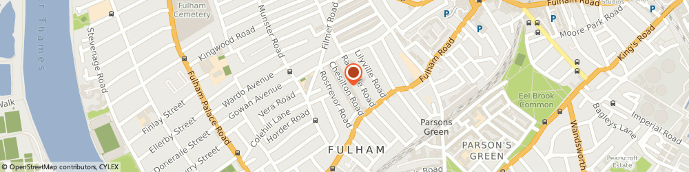 Route/map/directions to Burlington School Of English, SW6 5AA London, 1-3 CHESILTON ROAD