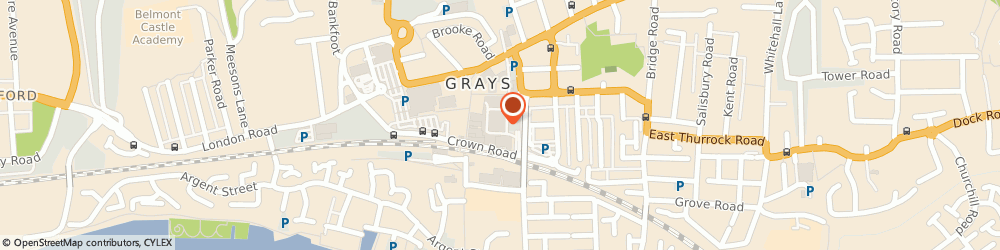 Route/map/directions to The Card Factory, RM17 6QF Grays, SOUTH MALL GRAYS SHOPPING CENTRE THE MALL