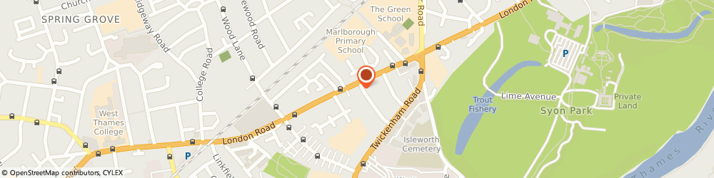 Route/map/directions to Tesco Express, TW7 5AY Isleworth, 317-323 London Rd