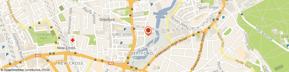 Route/map/directions to Apt Gallery, SE8 4SA London, 6 Creekside