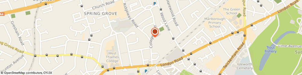 Route/map/directions to Mrs Annita Collier, TW7 5DJ Isleworth, College Road