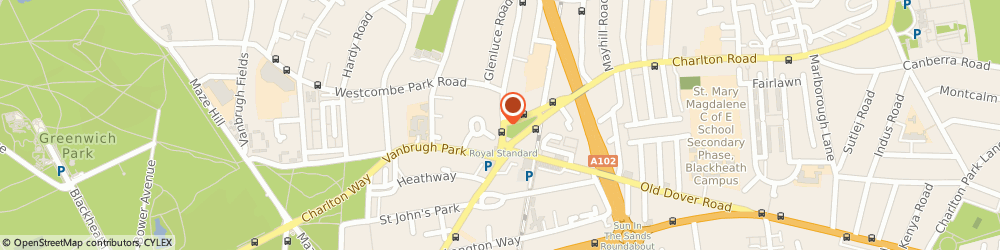 Route/map/directions to Optical Database Limited, SE3 7DH London, 178 Westcombe Hill