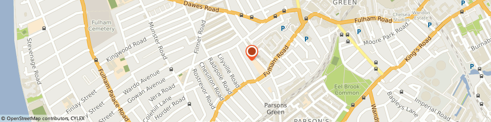 Route/map/directions to Fulham Removals Ltd, SW6 5BL London, 41 Clonmel Rd