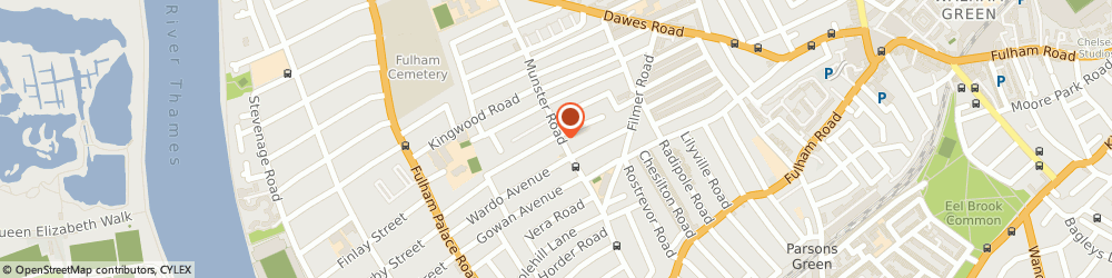 Route/map/directions to F.M.G COMMUNICATIONS LTD, SW6 6DA London, 175 MUNSTER RD