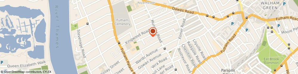Route/map/directions to Samson's Chauffeurs, SW6 6SE London, Suite 10, 17-21 Wyfold Road