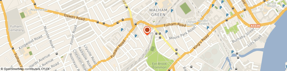 Route/map/directions to Fulham Locksmith, SW6 1EJ London, Barclay Rd