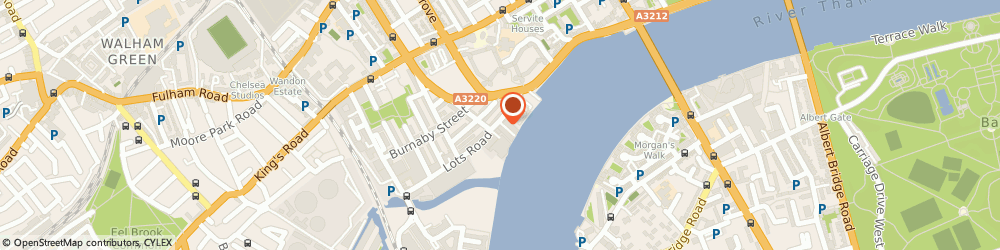 Route/map/directions to Mobix International, SW10 0QJ London, CHELSEA WHARF, 15 LOTS ROAD