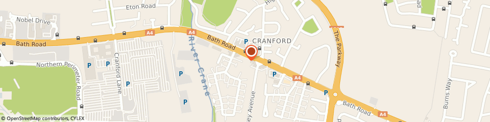 Route/map/directions to Cranford Wine Stores, TW5 9TY Hounslow, 736, BATH ROAD
