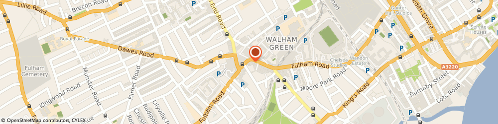Route/map/directions to R Brain & G Gamble & Son Funeral Directors, SW6 5UA Fulham Broadway, 601 Fulham Road