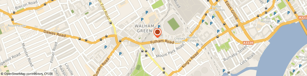 Route/map/directions to Hollywood & Brompton Chauffeurs & Mini Cabs, SW6 1DN London, 3 Wansdown Pl