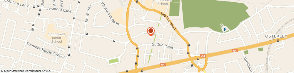 Route/map/directions to Lawsons Wedding and Funeral Services Limited, TW5 0PX Hounslow, 7 SUTTON HALL ROAD