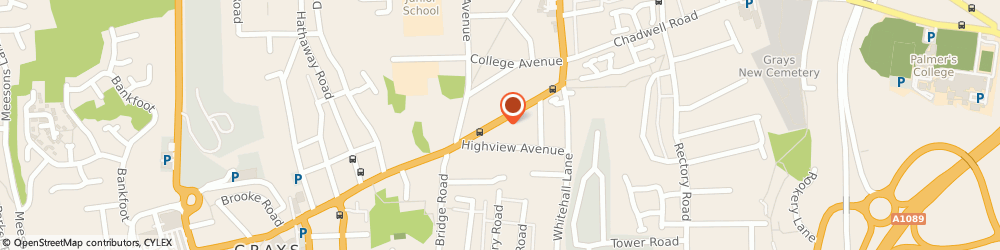 Route/map/directions to Freelance Chartered Building Surveyor, RM17 5UB Grays, 6/A Palmers Ave