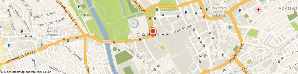 Route/map/directions to Shop Rugby, CF10 1AY Cardiff, 8 Duke Street