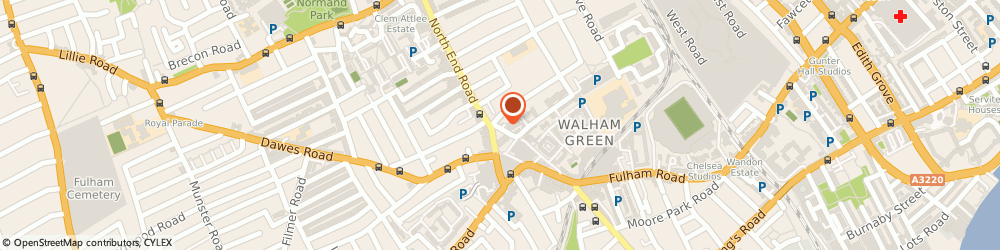 Route/map/directions to Fulham Cleaner Ltd., SW6 1AY London, 3-5, Vanston Place