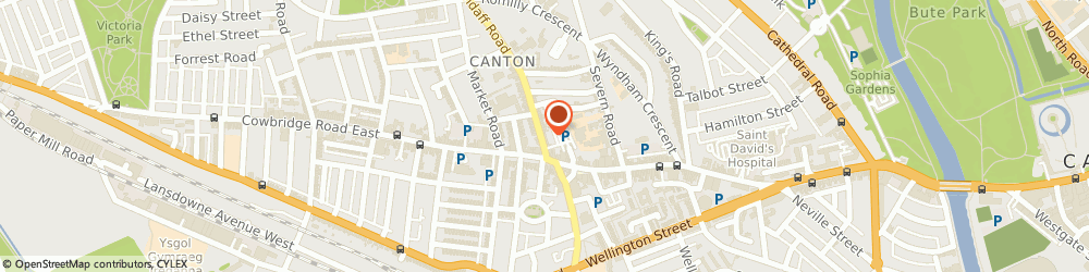 Route/map/directions to Venn Tailoring Services and School Of Sewing, CF11 9NJ Cardiff, 14 Llandaff Road