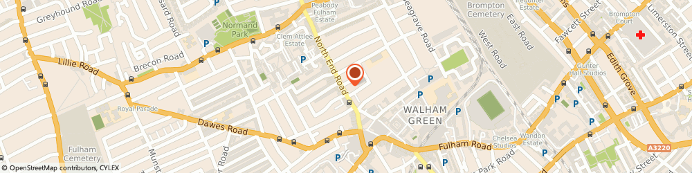 Route/map/directions to Lloyds Bank, SW6 1NS Fulham, 417 North End Road