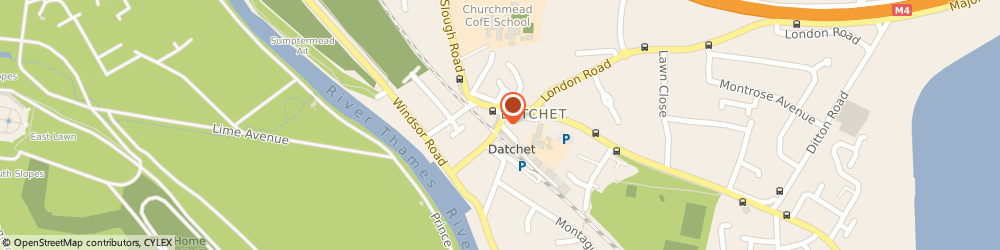 Route/map/directions to Azule Finance, SL3 9EA Datchet, 2-4 High St 1st Floor