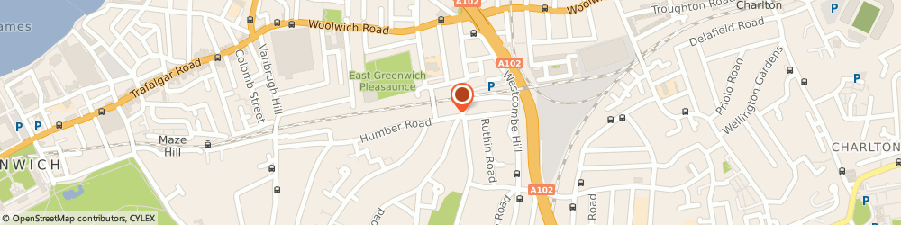 Route/map/directions to Pilates Plus London, SE3 7LW London, 109 Humber Rd