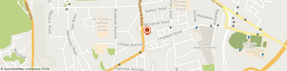 Route/map/directions to South East Chiropractic Ltd, RM17 5NH Grays, 27 Southend Rd