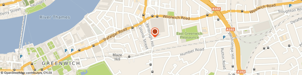 Route/map/directions to Cassidy Dr Z, SE10 9HQ London, Vanbrugh Hill Health Centre/Vanbrugh Hill