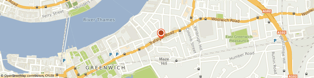 Route/map/directions to Specialist Audio Visual Co, SE10 9TX London, 127, TRAFALGAR ROAD