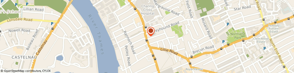 Route/map/directions to Bains Partners, W6 8QX London, 185 Fulham Palace Rd