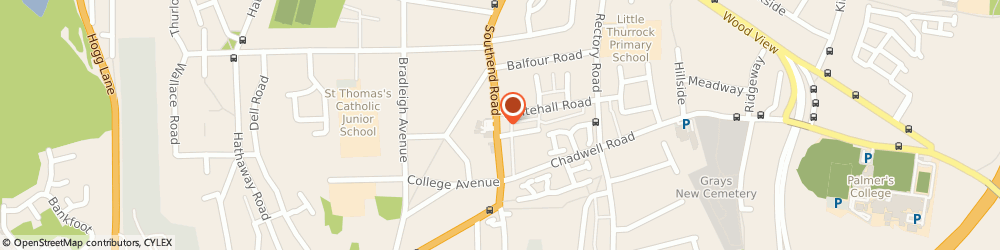 Route/map/directions to Quest Project Services Ltd, RM17 5NJ Grays, 51A, SOUTHEND ROAD