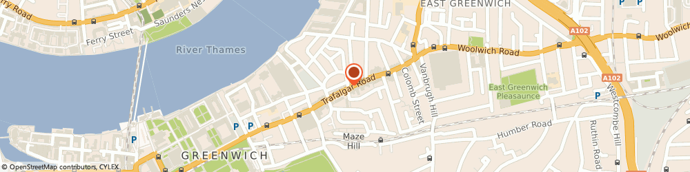 Route/map/directions to KIDS DIARIES LIMITED, SE10 9TX London, 151 Trafalgar Road