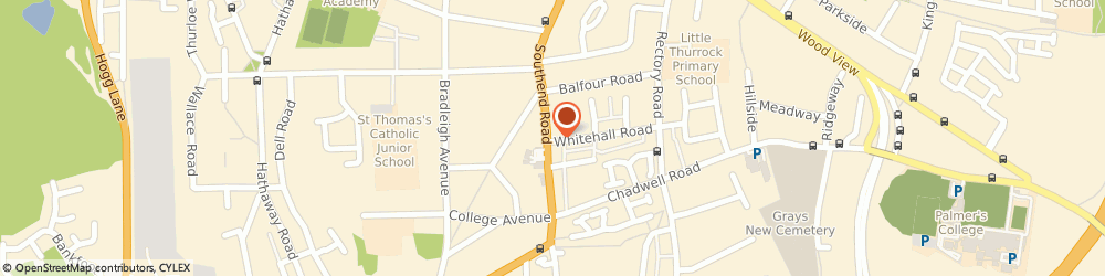 Route/map/directions to RWS TECHNICAL DELIVERY SERVICES LTD, RM17 5NL Grays, 57 Southend Road