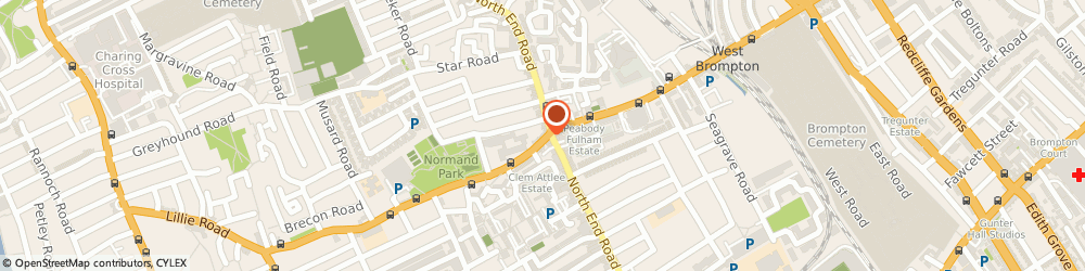 Route/map/directions to Nhs Dentist London, SW6 7SR London, 92 Lillie Rd