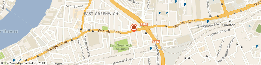 Route/map/directions to UPS Solutions Logistics, SE10 Greenwich, 76 Woolwich Road