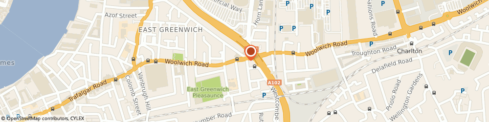 Route/map/directions to Star Nursing & Care Services Limited, SE10 0LE London, 104 Woolwich Road