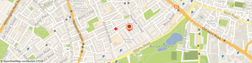 Route/map/directions to Aylesbury Youth Centre, SE17 2HY London, Inville Road