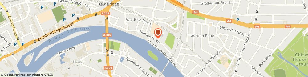 Route/map/directions to K Hammond, W4 3RE London, 58 Thames Road