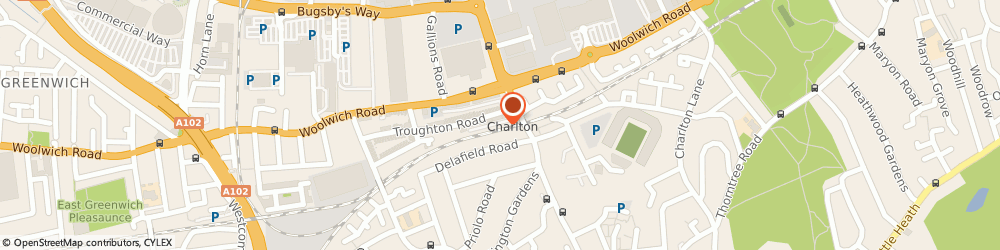 Route/map/directions to Charlton Rail Station London, SE7 7QG London, 131 TROUGHTON RD LONDON, GREATER LONDON SE7 7QF 167 FT NW