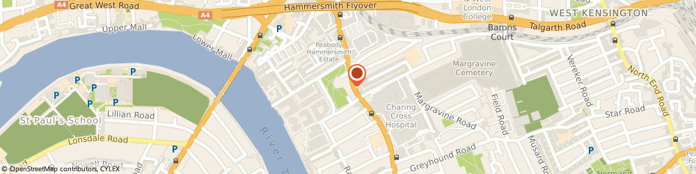 Route/map/directions to Expressions, W6 9PL London, 92 Fulham Pal Rd