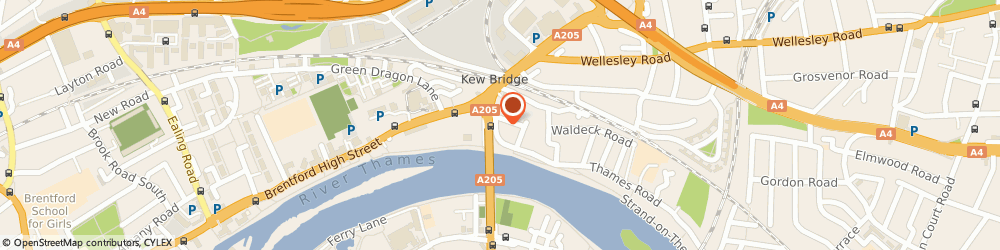 Route/map/directions to Bromptons, W4 3NQ London, 107 Strand-On-The-Green