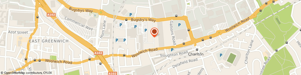 Route/map/directions to JD Sports, SE7 7ST Greenwich, Unit 4 Greenwich Shopping Park, Bugsby Way