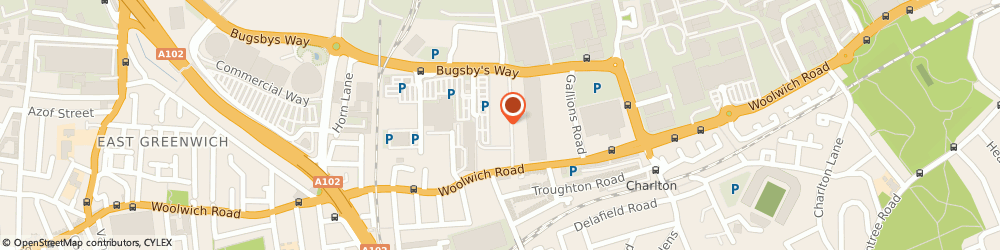Route/map/directions to Matalan, SE7 7SR London, Woolwich Road