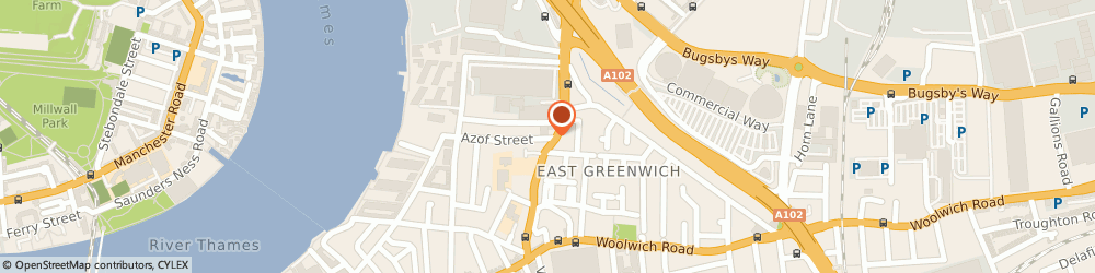 Route/map/directions to AZof Solutions, SE10 0EG London, AZOF HOUSE, 1 AZOF STREET