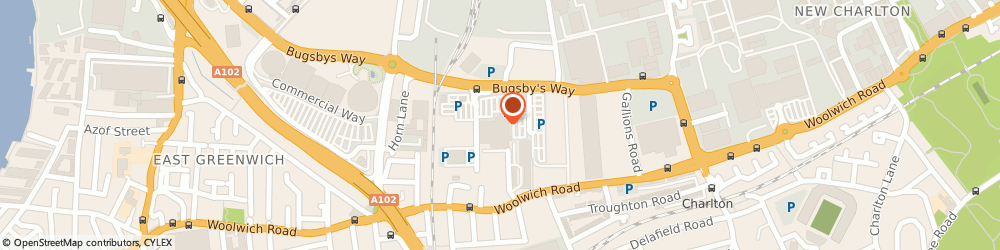 Route/map/directions to Asda Charlton Superstore, SE7 7ST London, Bugsby Way, Charlton