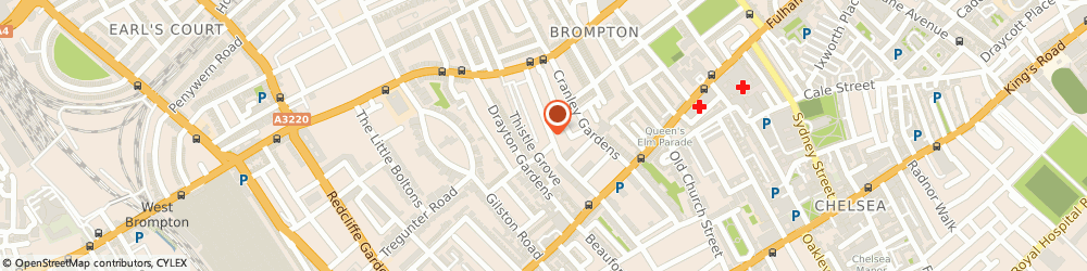 Route/map/directions to Blakes Hotel, SW7 3PF London, 33 Roland Gardens