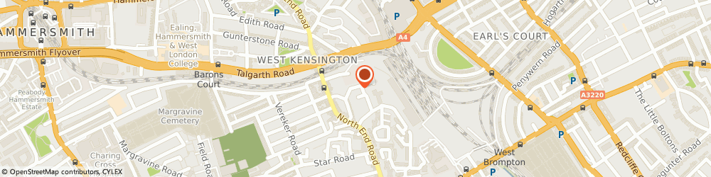 Route/map/directions to WEST KENSINGTON FLOOR SANDING, W14 9NB London, 28 Gibbs Green Close