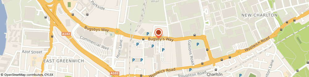 Route/map/directions to TK Maxx, SE7 7TZ London, Bugsby Way