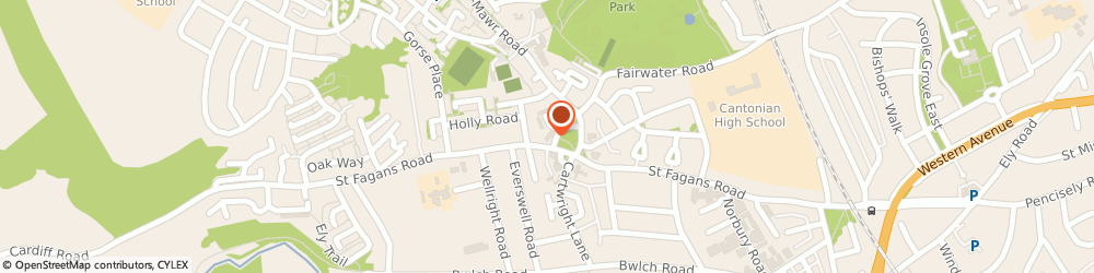 Route/map/directions to LloydsPharmacy, CF5 3HR Cardiff, 1-2 Chestnut Road