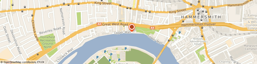 Route/map/directions to Sons Of The Thames Rowing Club, W6 9TA London, LINDEN HOUSE, 60 UPPER MALL