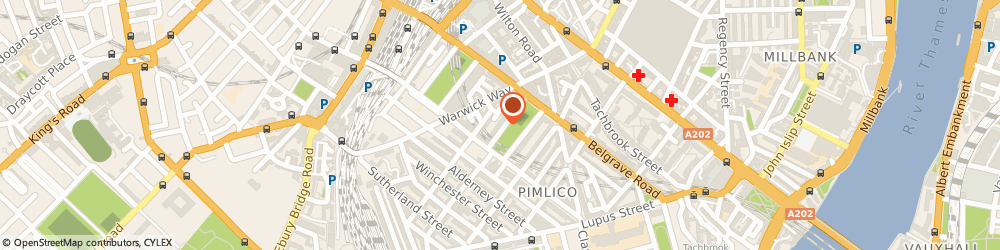 Route/map/directions to Lucy Vail Floristry, SW1V 2AB London, 15 Warwick Square